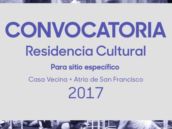 Residneic cultural Sitio específico 2017