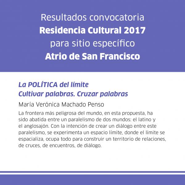 Residencia cultural resultados 2017